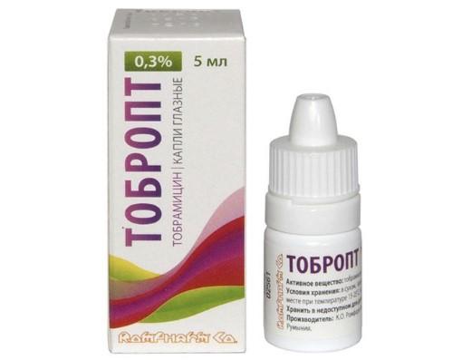 Глазные капли Тобропт - это антибактериальное средство