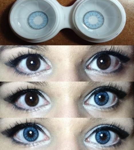 Оттенки голубых линз