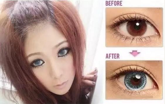 Размер глаза с линзами и без них