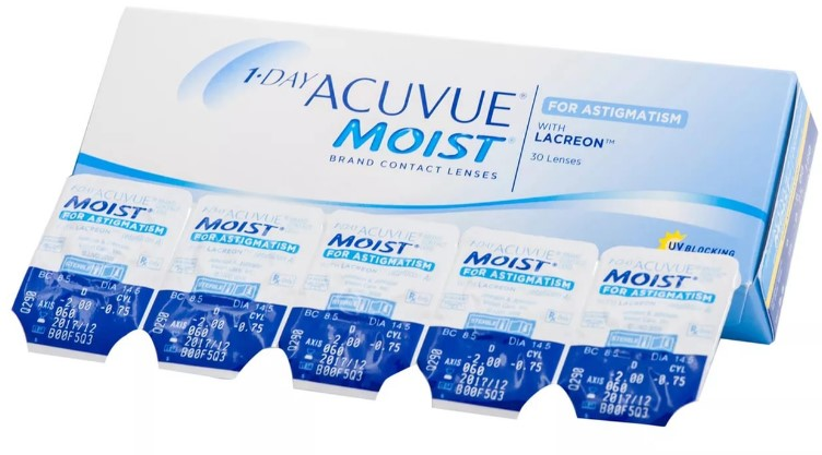 Линза acuvue moist 1 day из силикон-гидрогеля