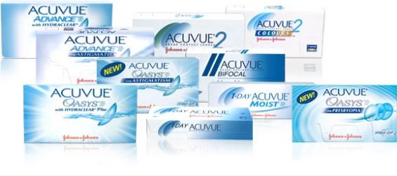 Типы контактных линз Acuvue