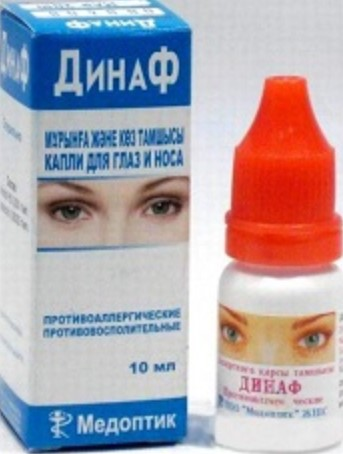 Капли от аллергии Динаф