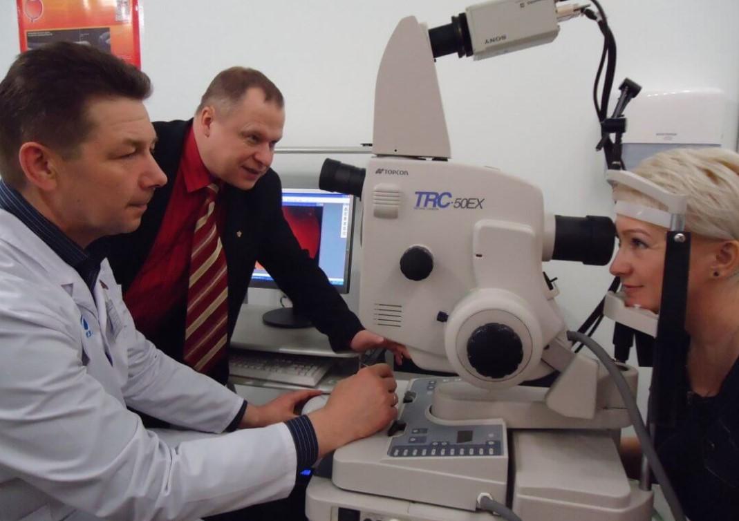 Проведение флуоресцентной ангиографии