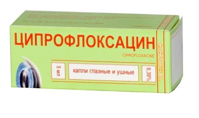 Ципрофлоксацин капли глазные