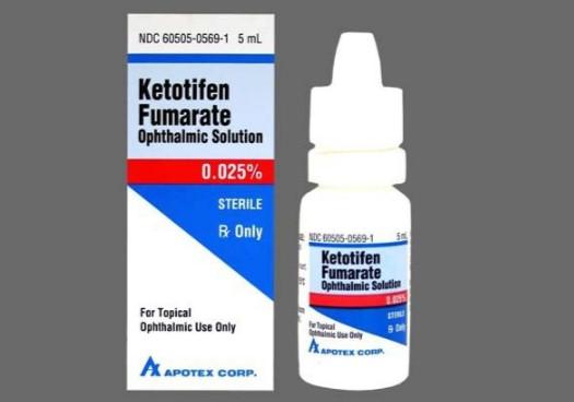Глазные капли Кетотифен выпускается во флаконах по 5 мл