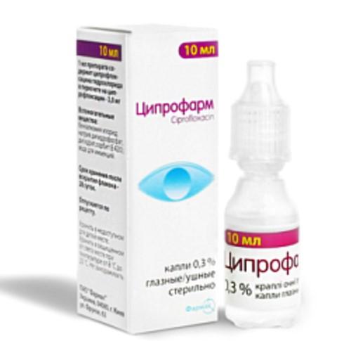 Глазные капли Ципрофарм - это эффективное антибактериальное средство