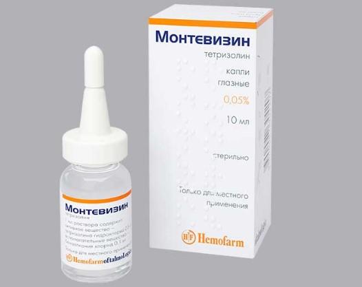 Монтевизин глазные капли