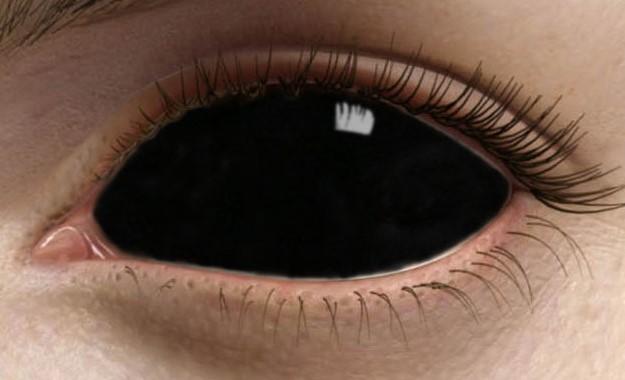 Черные склеральные линзы на весь глаз