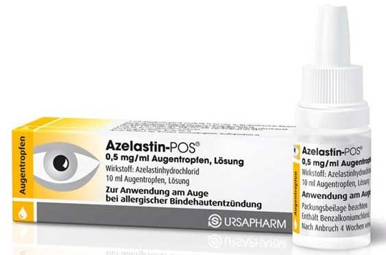 Противовоспалительные капли для глаз Азеластин