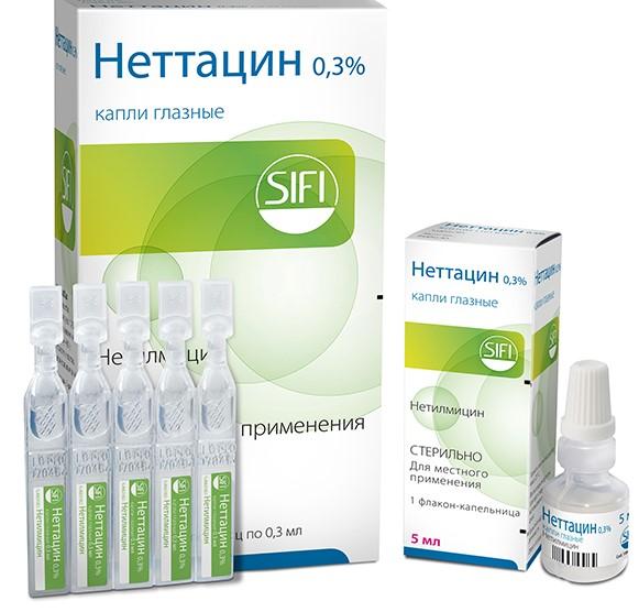 Капли от инфекций Неттацин